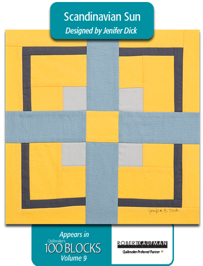 Designer and author  Jenifer Dick  created this flag-inspired quilt with Kona Cotton Solids.