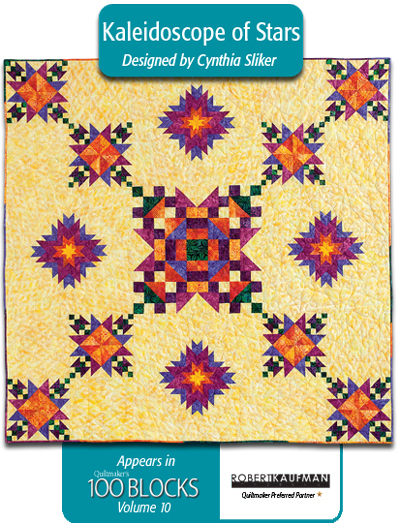 Kaleidoscope of Stars by Cynthia Sliker, featuring Artisan Batiks