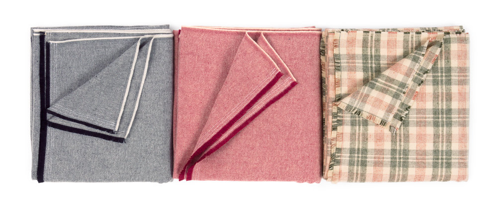 Spring Throw   by  Purl Soho , made by Ramona Burke, features  Tahoe Flannel
