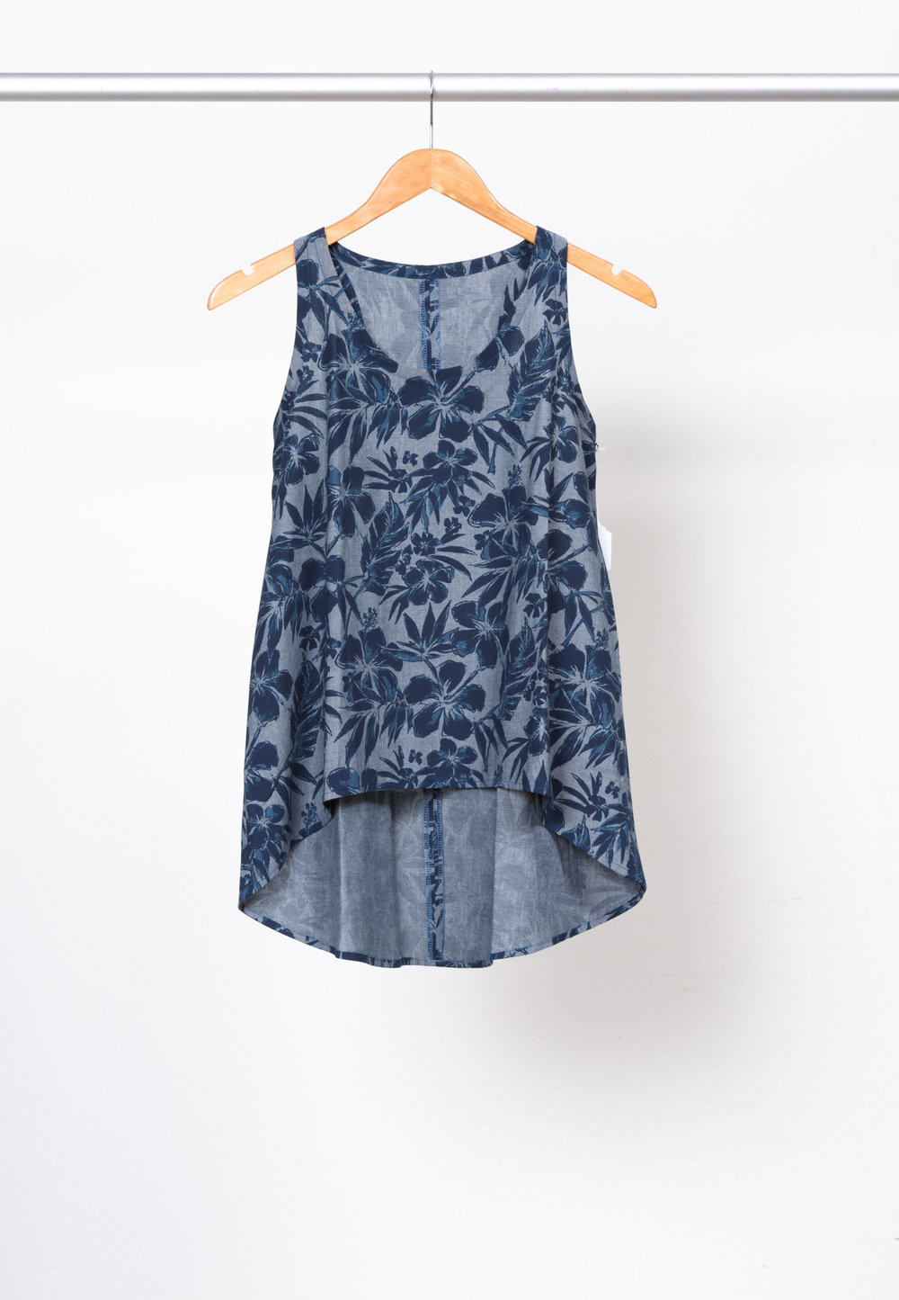 FOXGLOVE TANK   BY     BASTE AND GATHER ,  CHAMBRAY BLVD. PRINTS