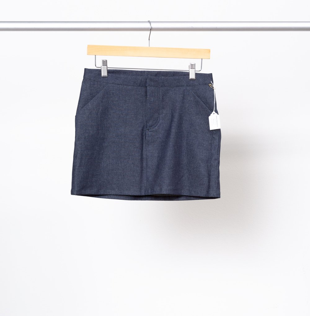 MOSS SKIRT   BY   GRAINLINE STUDIO ,  STRETCH DENIM 6 OZ