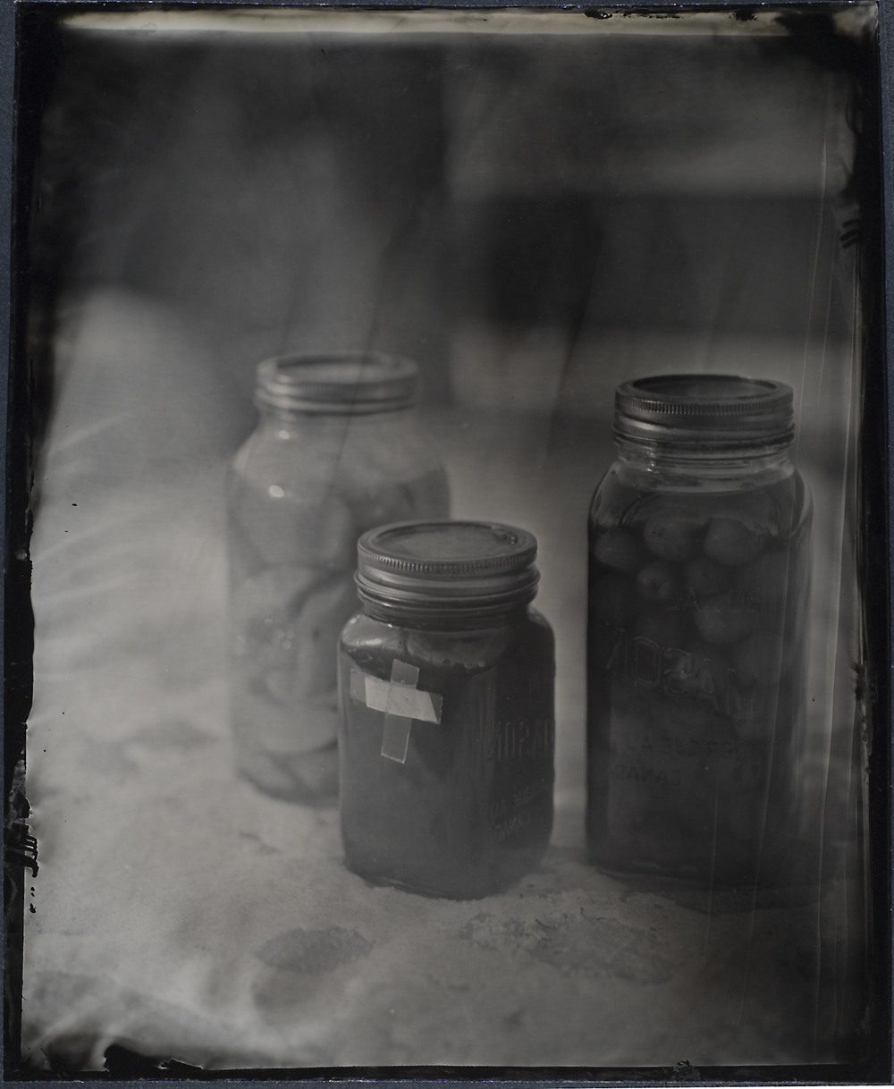 11 x 14 Wetplate Collodion aluminotype made with The Cardboard Supreme sliding box camera.