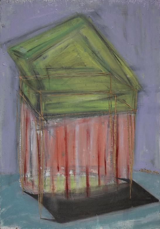 "Oil Paint on 1/2""Plywood"