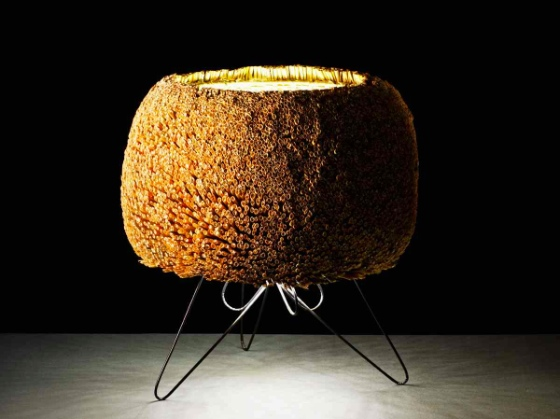 Junco Table lamp made from reeds