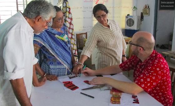 Discussing the mashru quilt designs