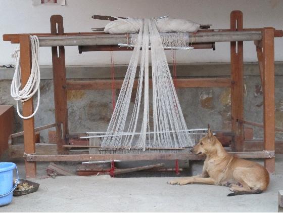 Traditional handloom.