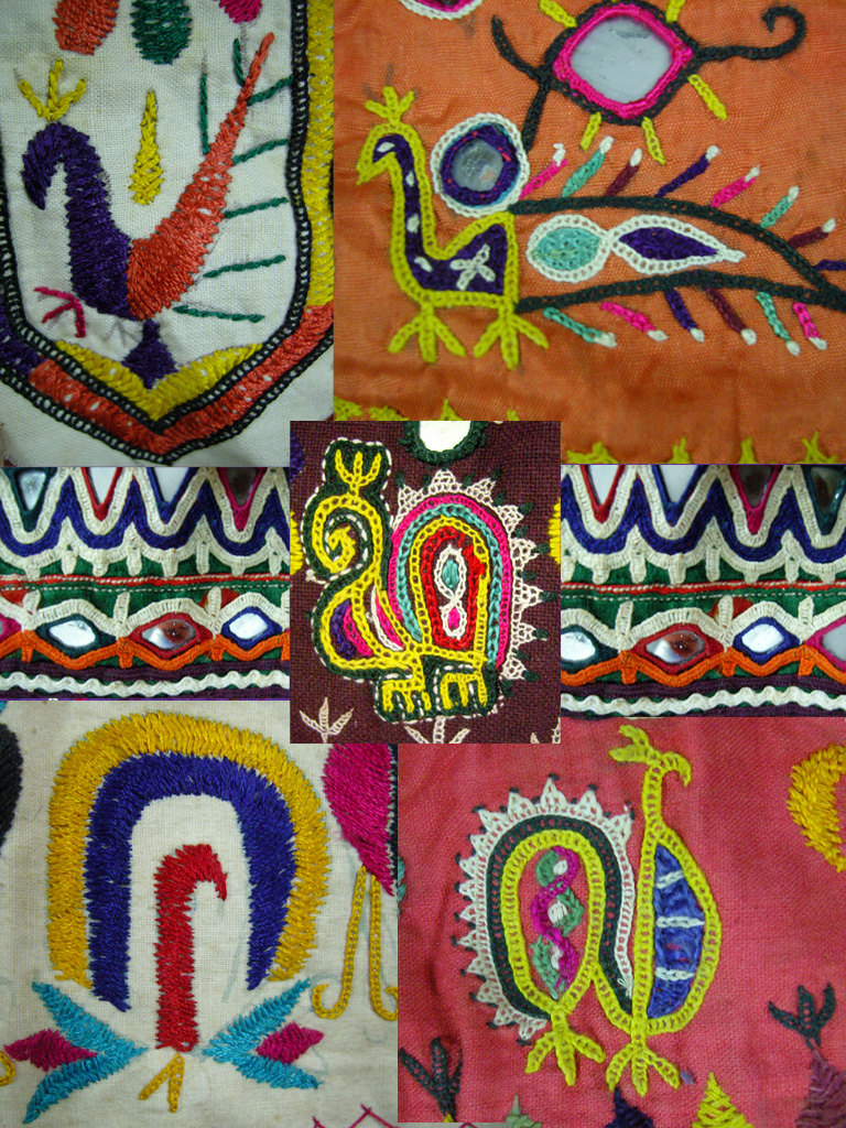 A montage of traditional Gujarati embroidery, by Graham Hollick. From our Gujarati Embroidery Pinterest board.
