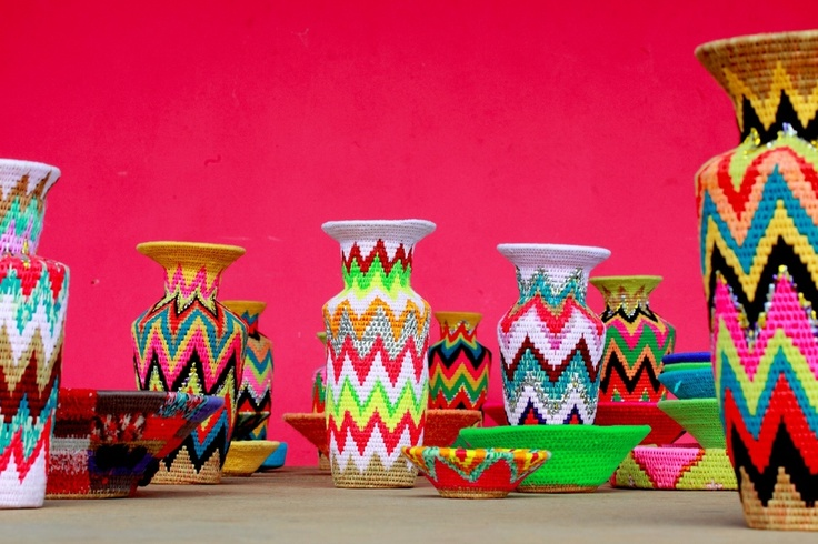 Flouro Vases by Gone Rural, from our blog, and Basket Weaving Pinterest board.