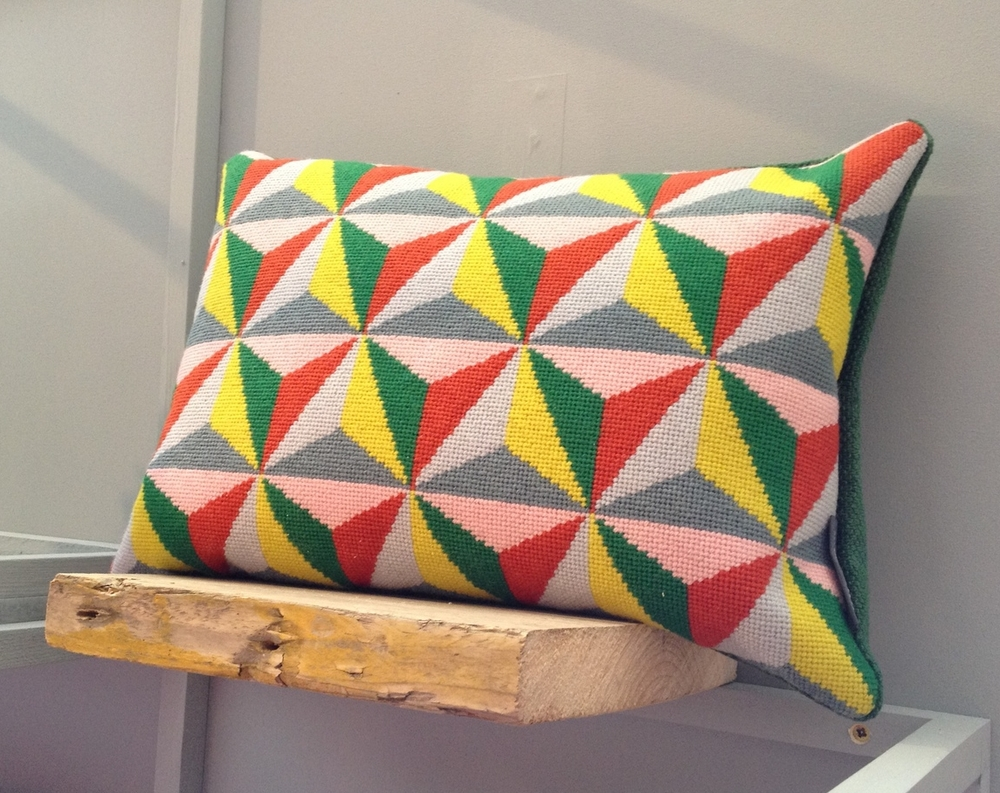 Cushion by  Fine Cell Work for Pentreath Hall , using Appletons tapestry wool.