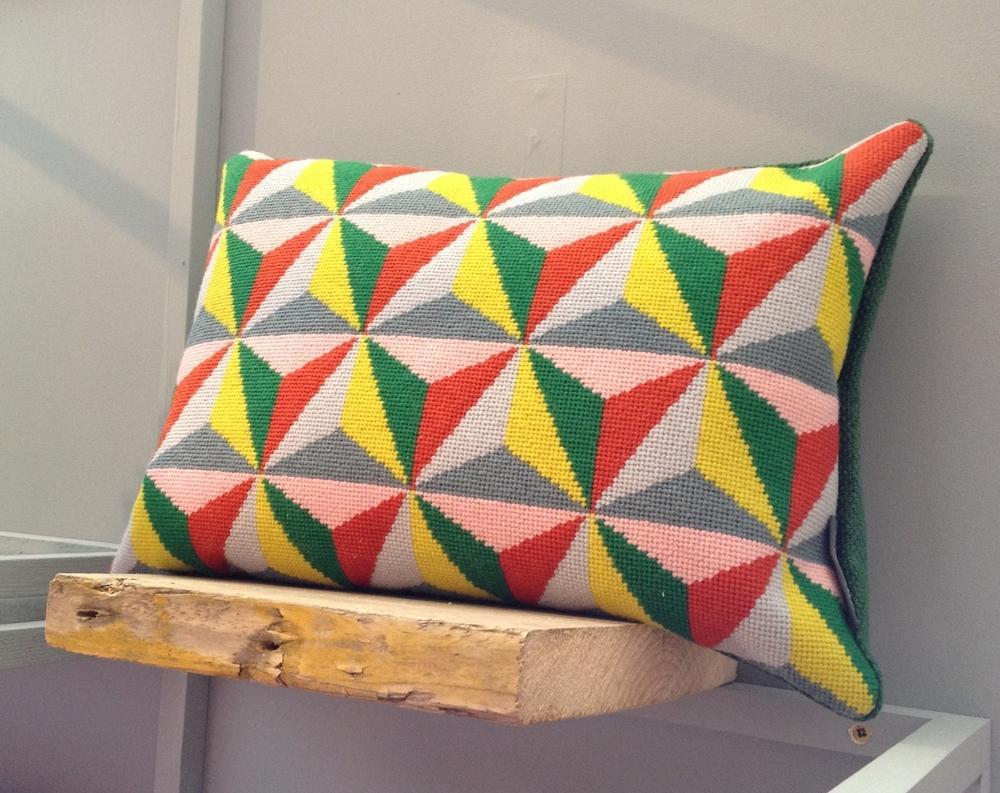 Cushion byFine Cell Work for Pentreath Hall, usingAppletons tapestry wool.