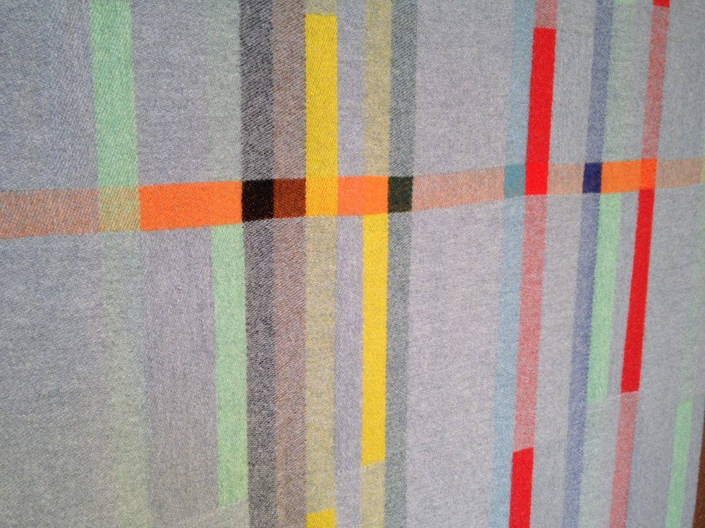 LU150 lambswool fabric designed by Wallace Sewell to celebrate 150 years of London Underground.