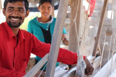 Kala cotton weavers, photo courtesy of Khamir.org