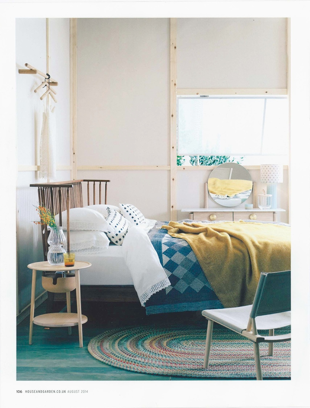 """House and Garden Aug 2014:our Khamir Cubes Quilt in """"A Light Touch"""" feature"""