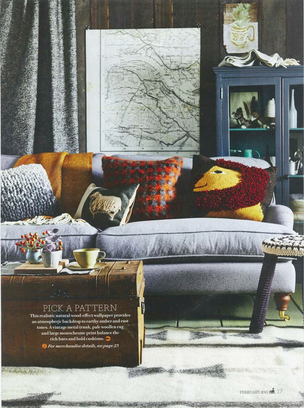 Country Living, Feb 2015: Jannu Radhi rug (courtesy of stockist Holly's House)