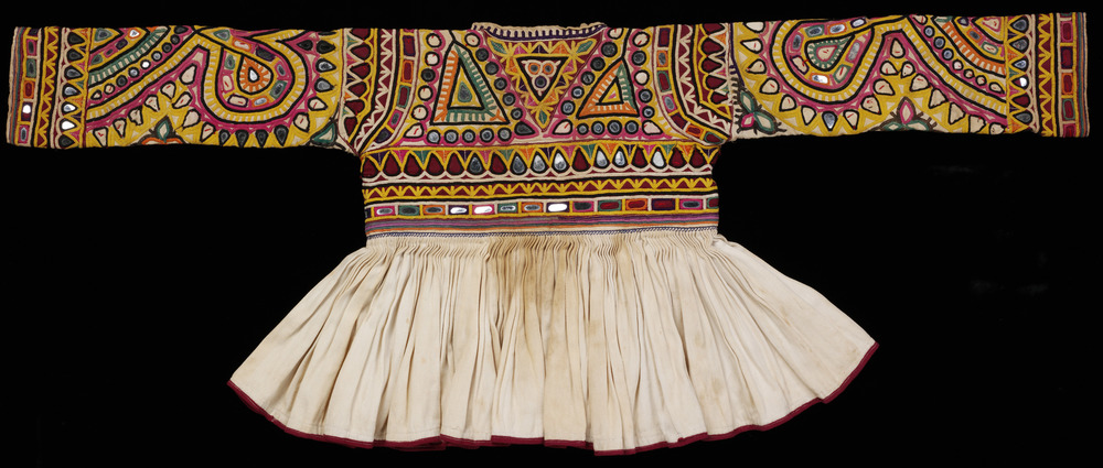 Rabari child's jacket, cotton embroidered with silk, 20th century, Victoria and Albert Museum, London