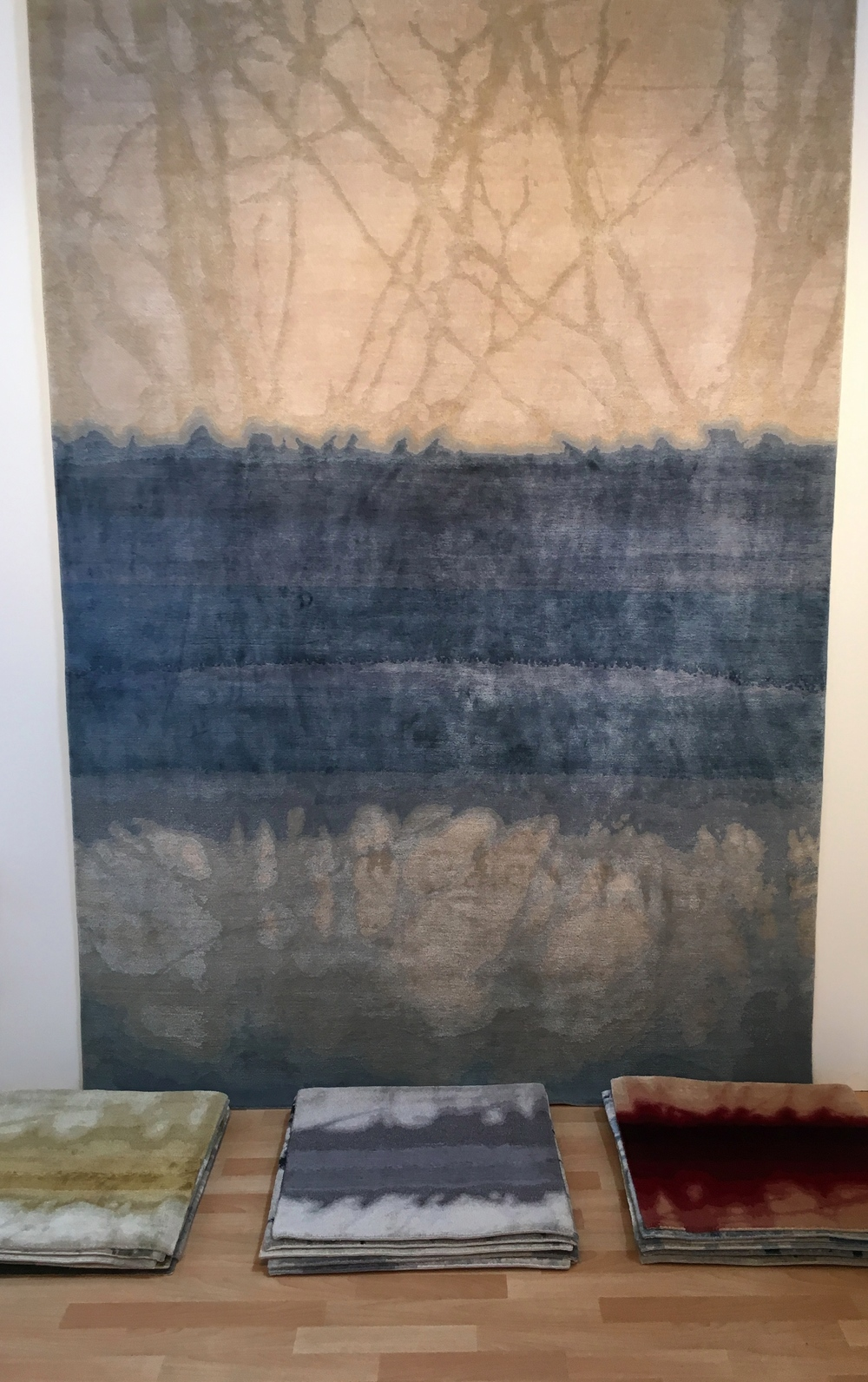 Tania Johnson Design exhibited pieces from her beautiful Journeys in Colour collection of hand knotted rugs, inspired by her photographs of light, shadows and reflections.  She works with makers in Nepal, supported by humanitarian organisation Good Weave.