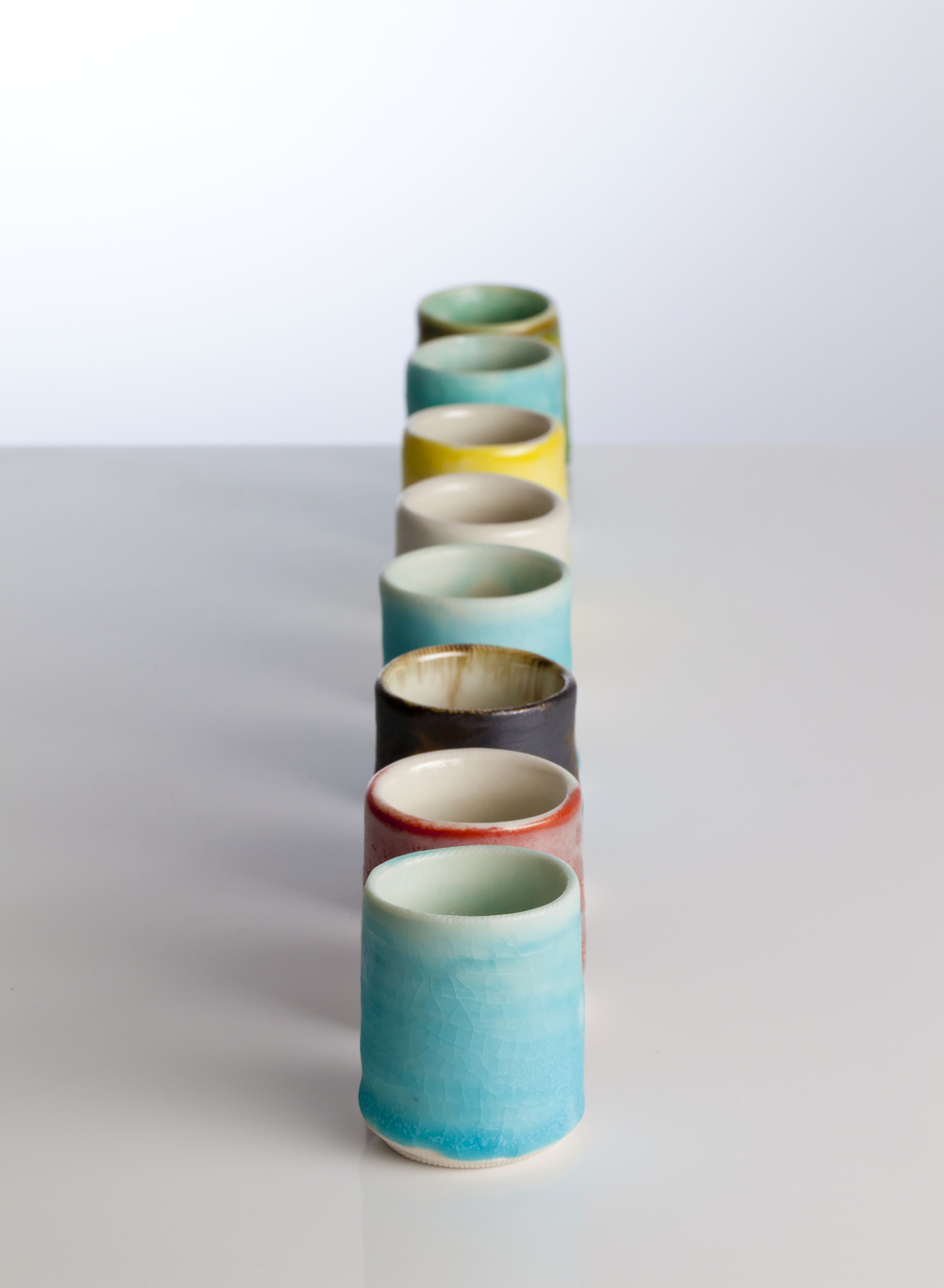 Coloured shots by ceramicist Gary Wood
