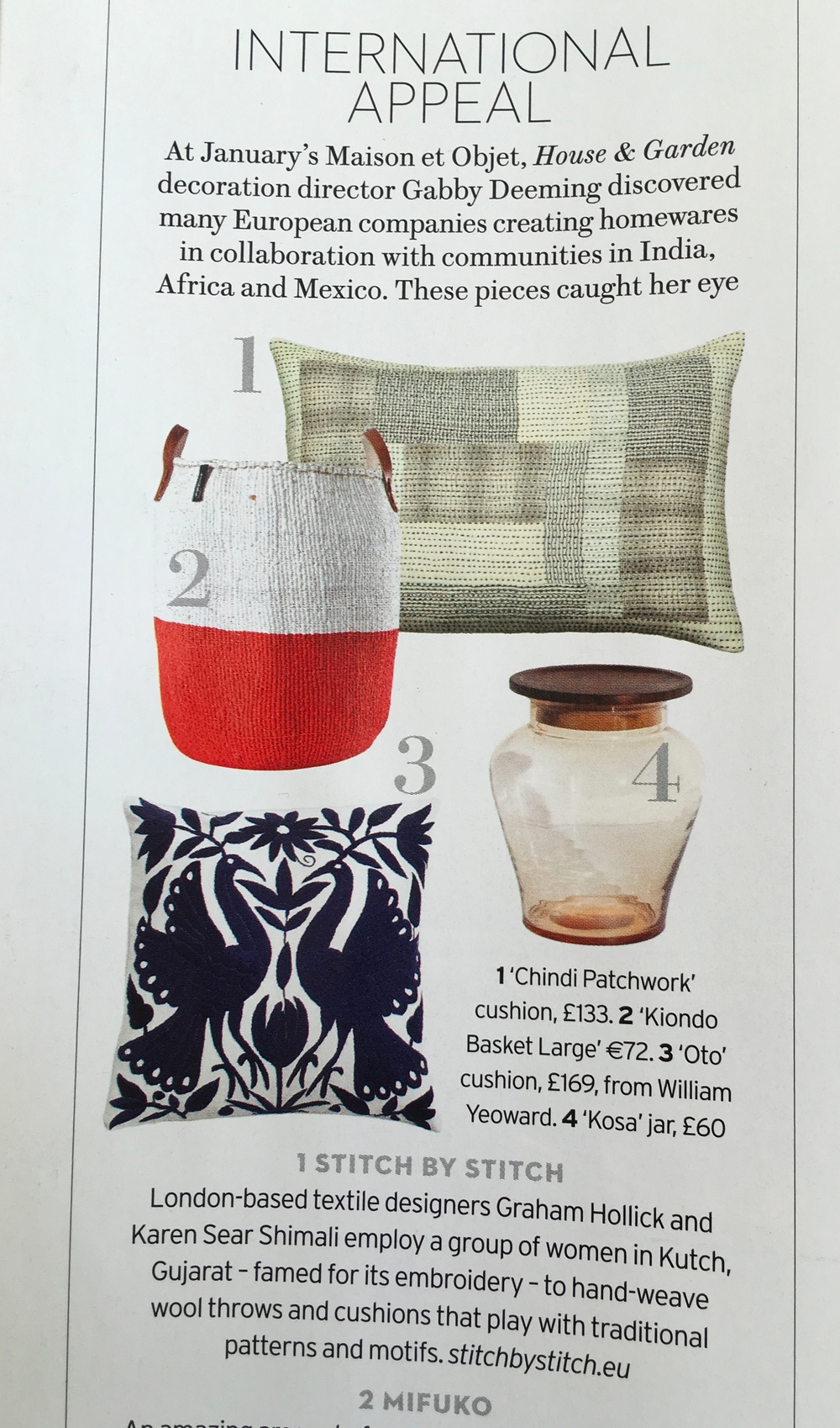 International Appeal, Shopping pages, House & Garden June 2016