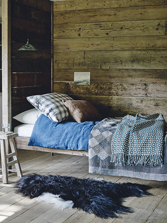 Homes & Gardens, Highland Folk, January 2017, featuring our Khamir Cubes Quilt. Read the full article here