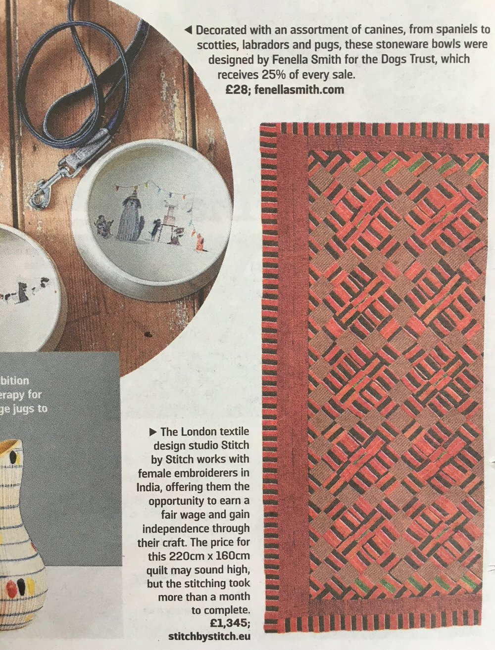 """Sunday Times Home section, """"Give a Little Extra"""",4 December 2016"""