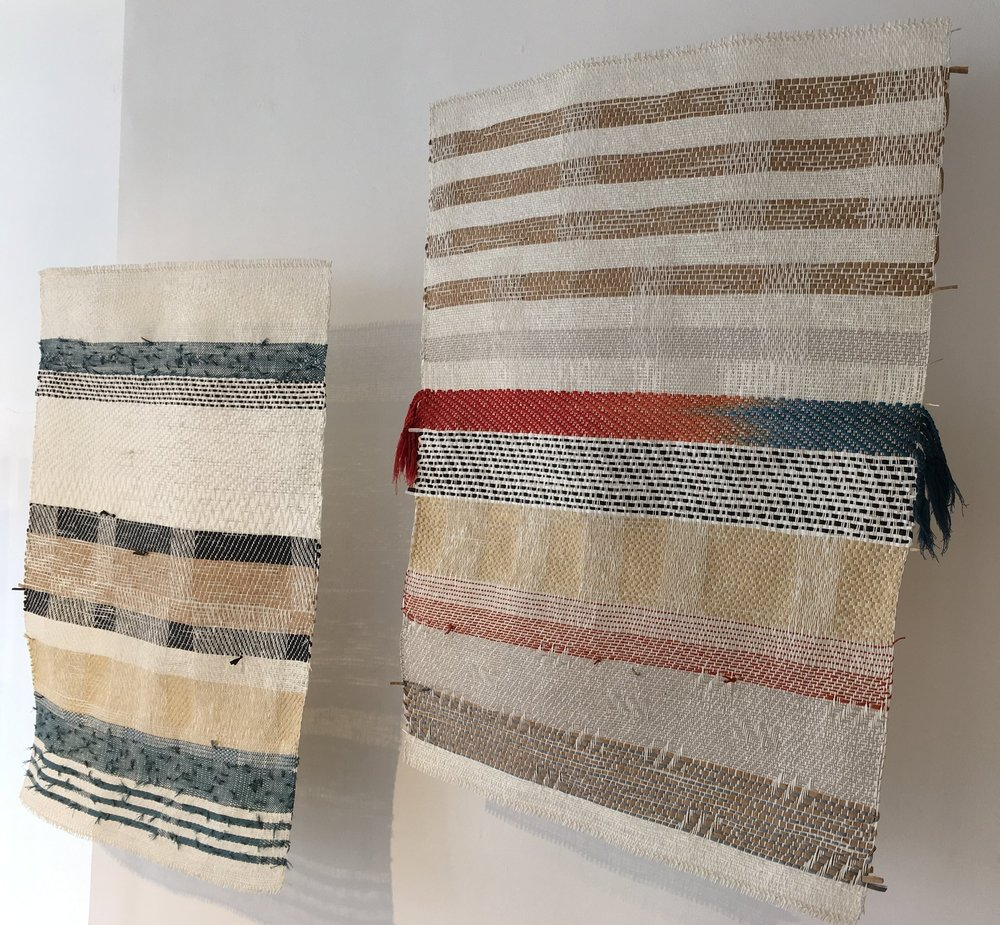 Paper yarn panels, 2018, by Catarina Riccabona