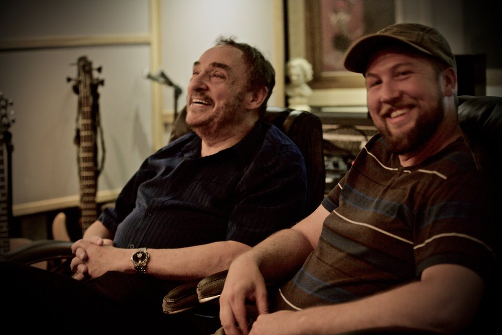I do more than music - John Rhys-Davies from The Lord of the Rings and I after a long day in the studio. Go VO!