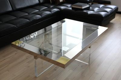 Chrome Brass Lucite Table 3.JPG