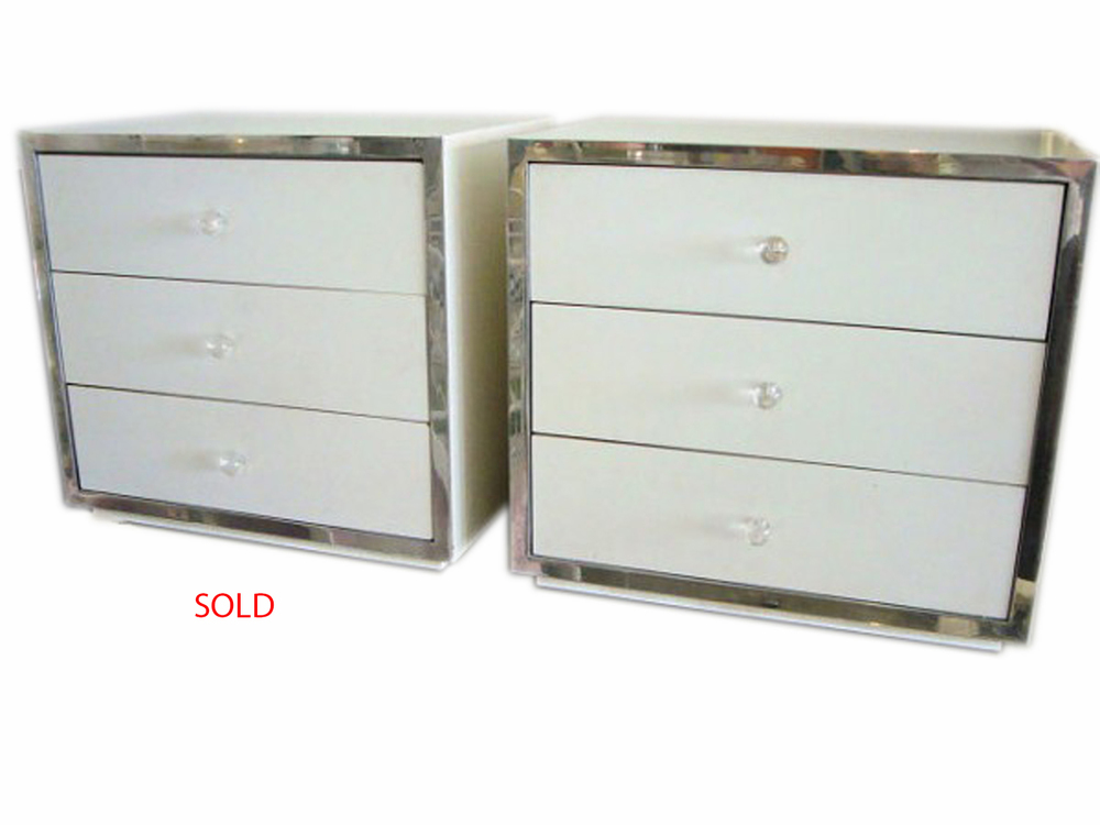 Pair White Chrome Chests SOLD.jpg