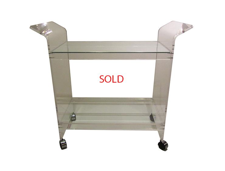 Lucite & Glass Cart SOLD.jpg