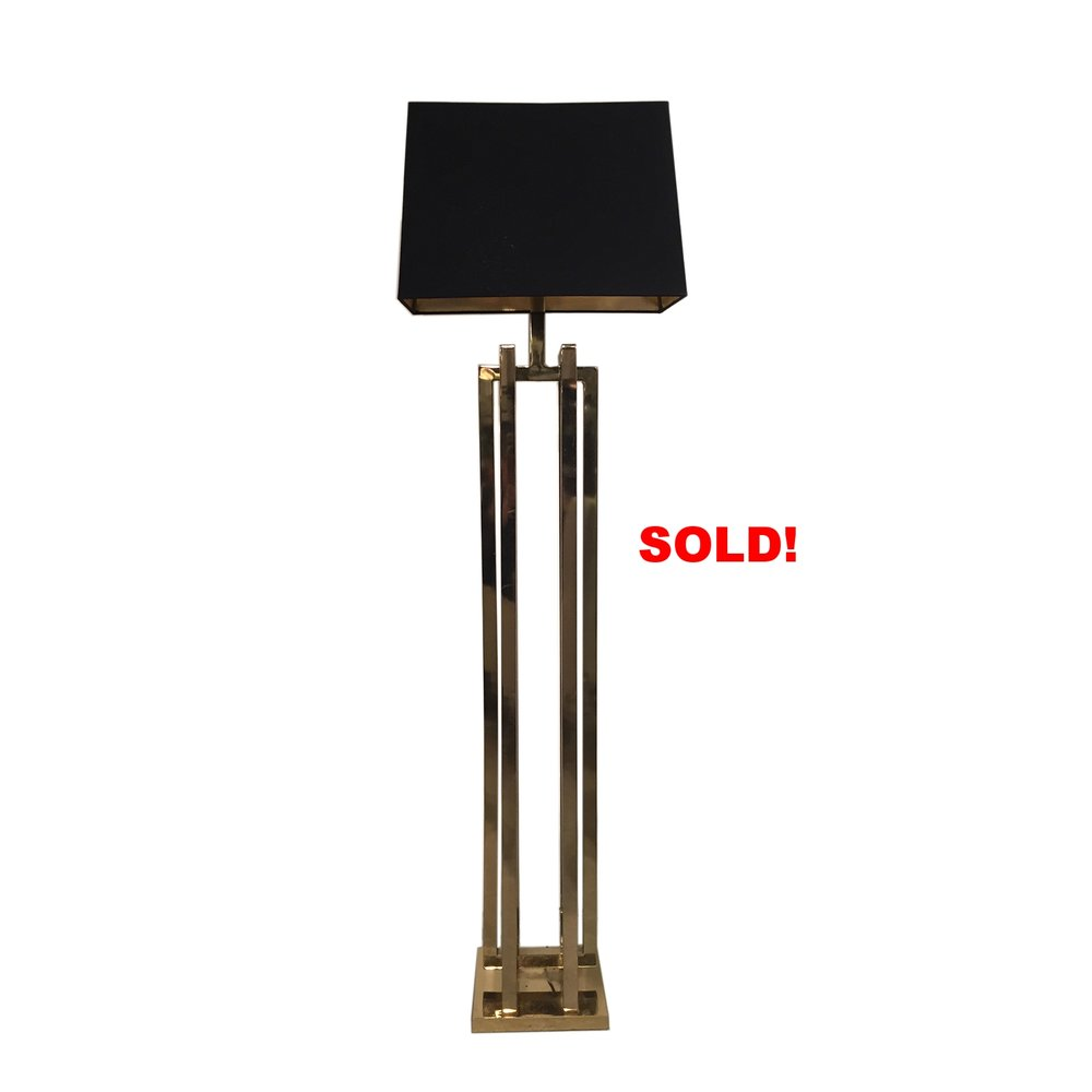 Milo Baughman Brass Floor Lamp for sale