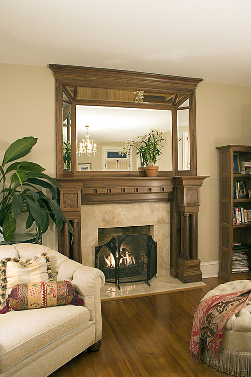 Mantel + Bookcase