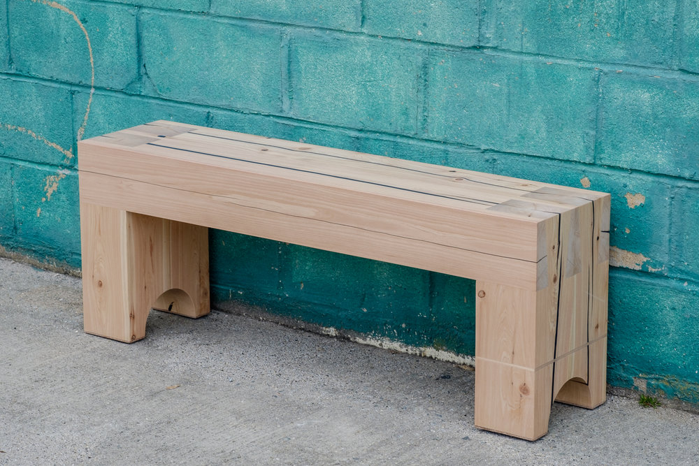 White Cedar Dovetailed Bench