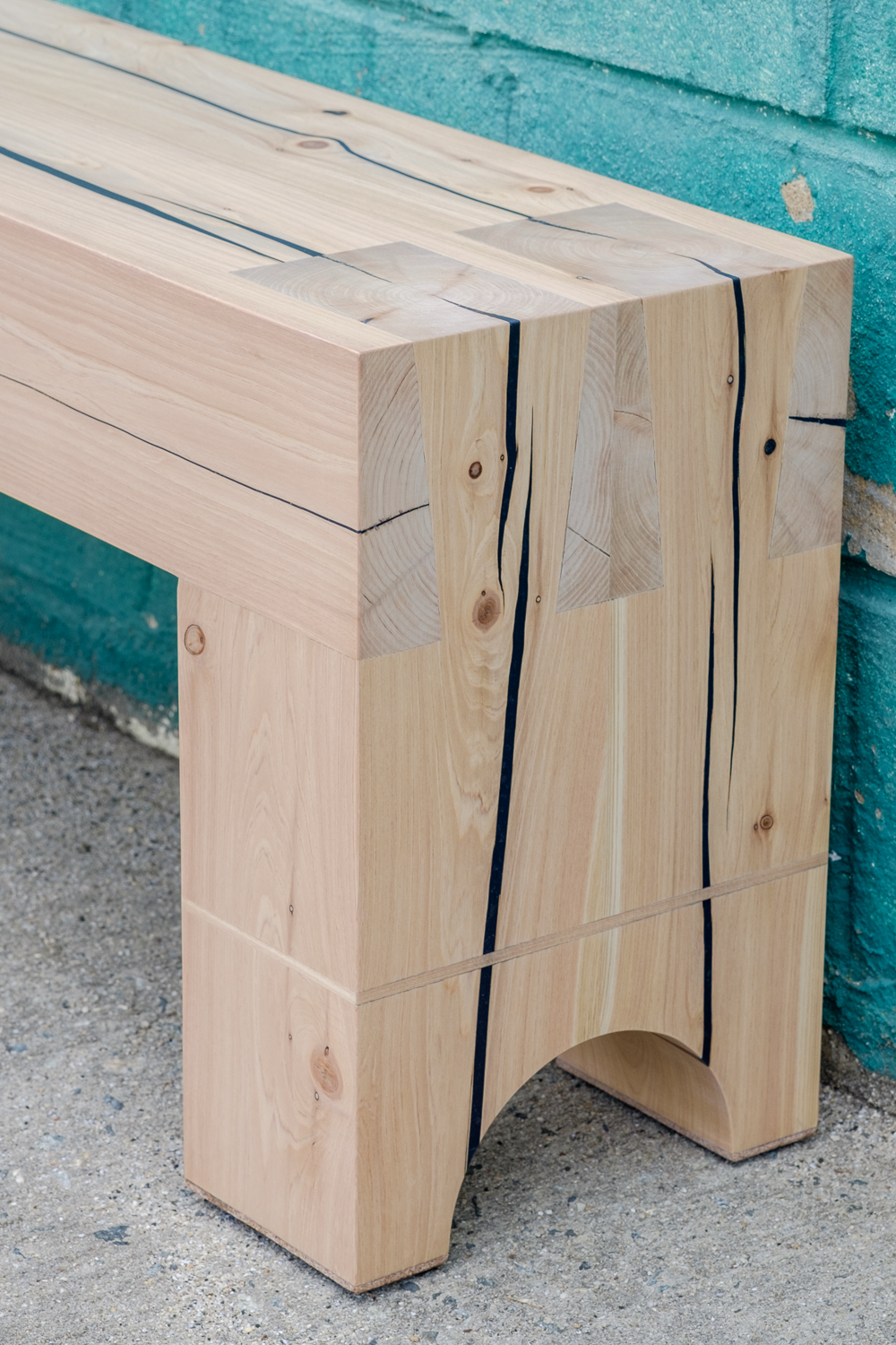 Dovetailed Bench Detail