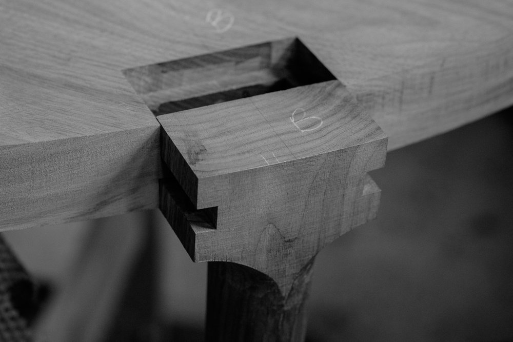 Leg joinery detail