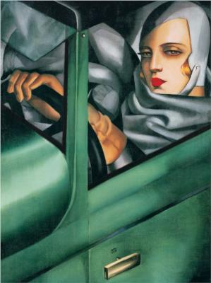 Self-Portrait in the Green Bugatti - Tamara de Lempicka