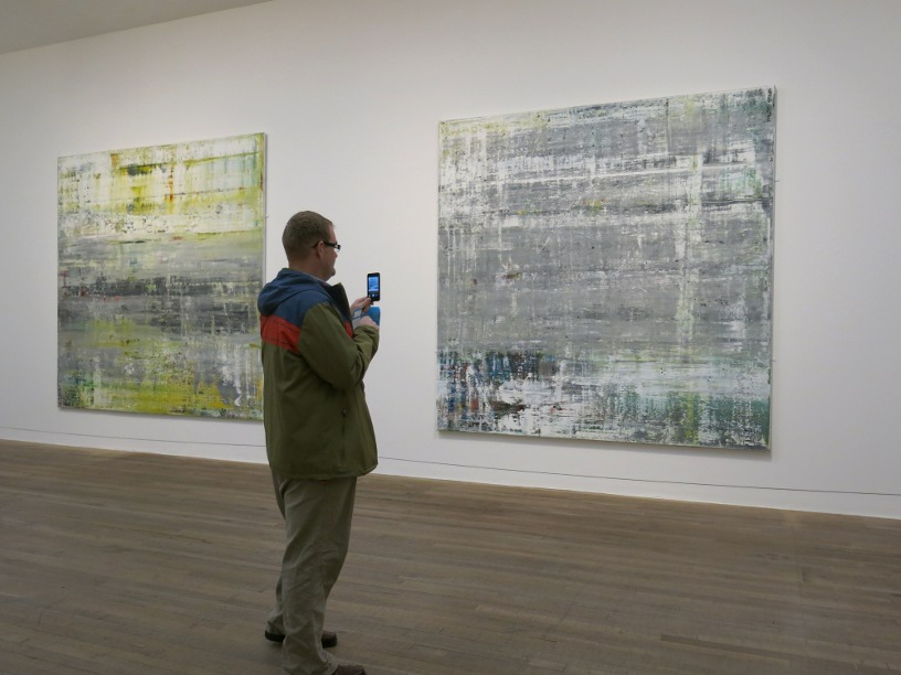 Dave checking out some of the Gerhard Richter paintings at the Tate Modern earlier this year.