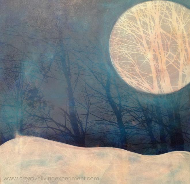 December Moon II, © 2014 Stephanie Guimond, Photography/Digital Art