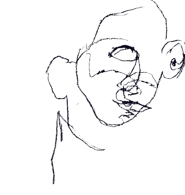 Blind contour self-portrait