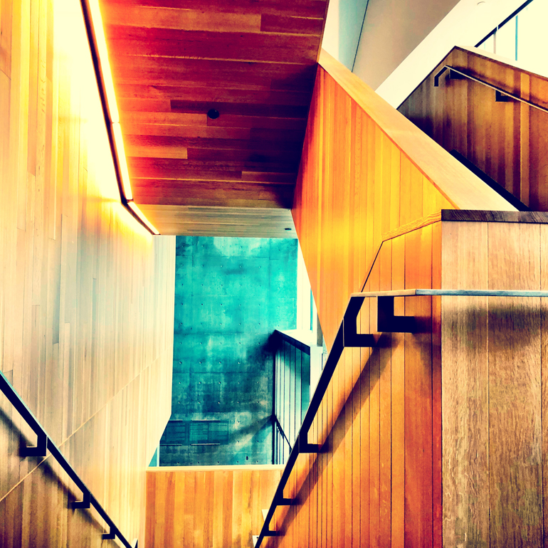 Stairway @ the MMFA, mobile photography, created using some of my favourite apps    © 2018 Stephanie Guimond