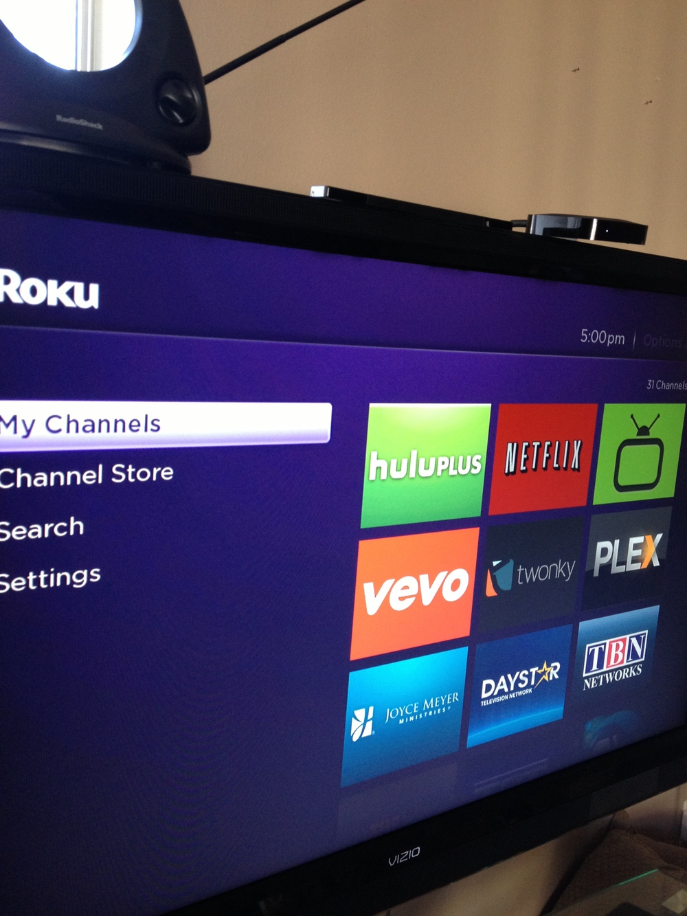 A few of our Roku channels