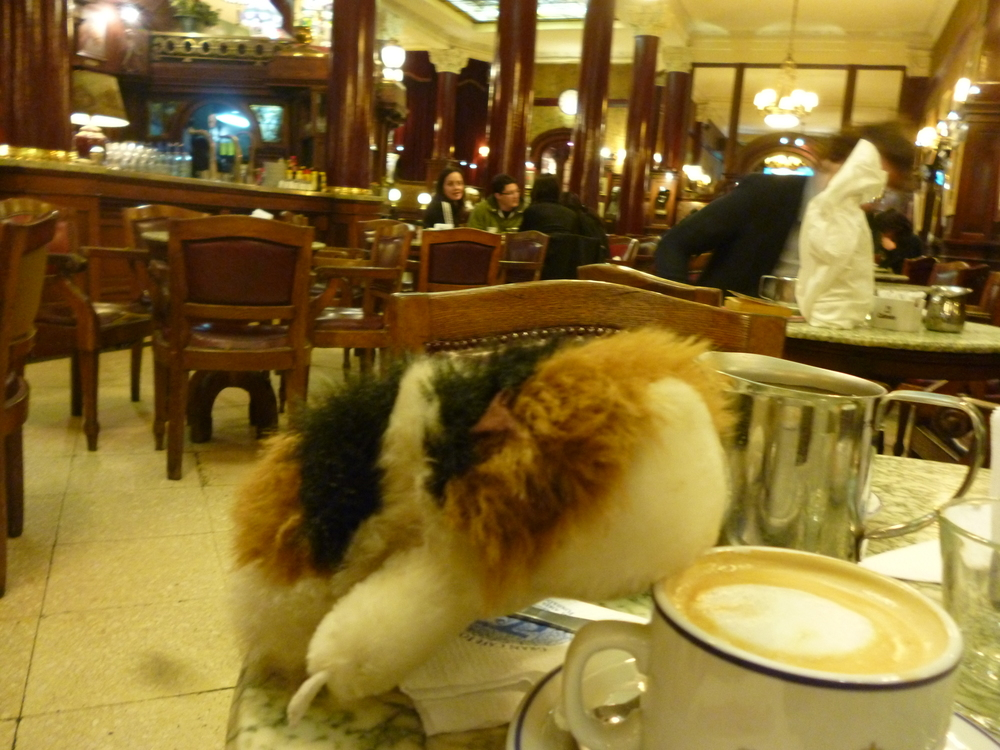 Alberta enjoying cafe con leche.JPG