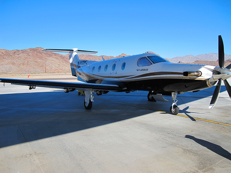 Aircraft of choice: The Pilatus PC-12. It's fast, big, and can haul everything you need in luxury.