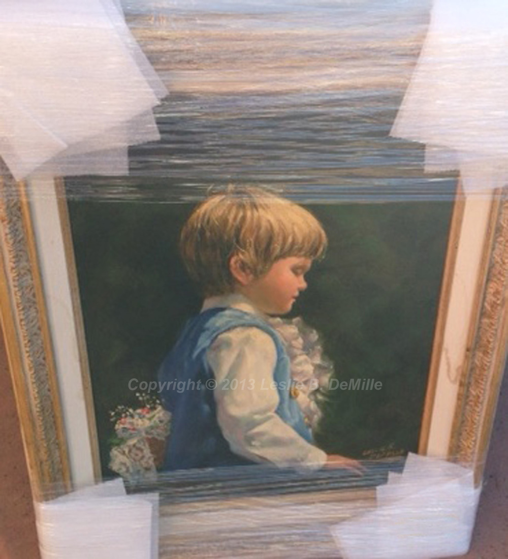 Boy for Party   Original Oil. Framed. $4,200