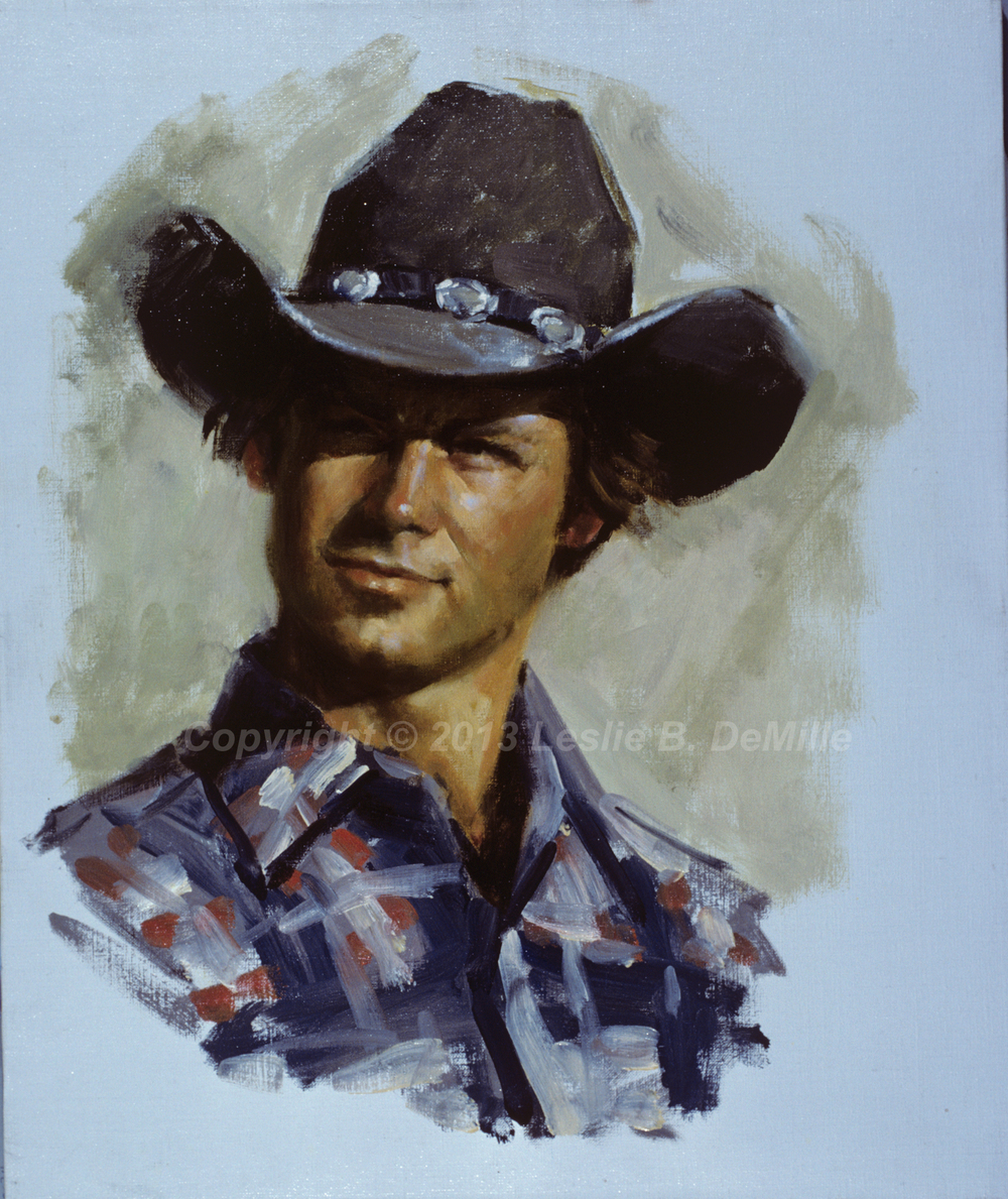 Cowboy 2, Oil (11x14)