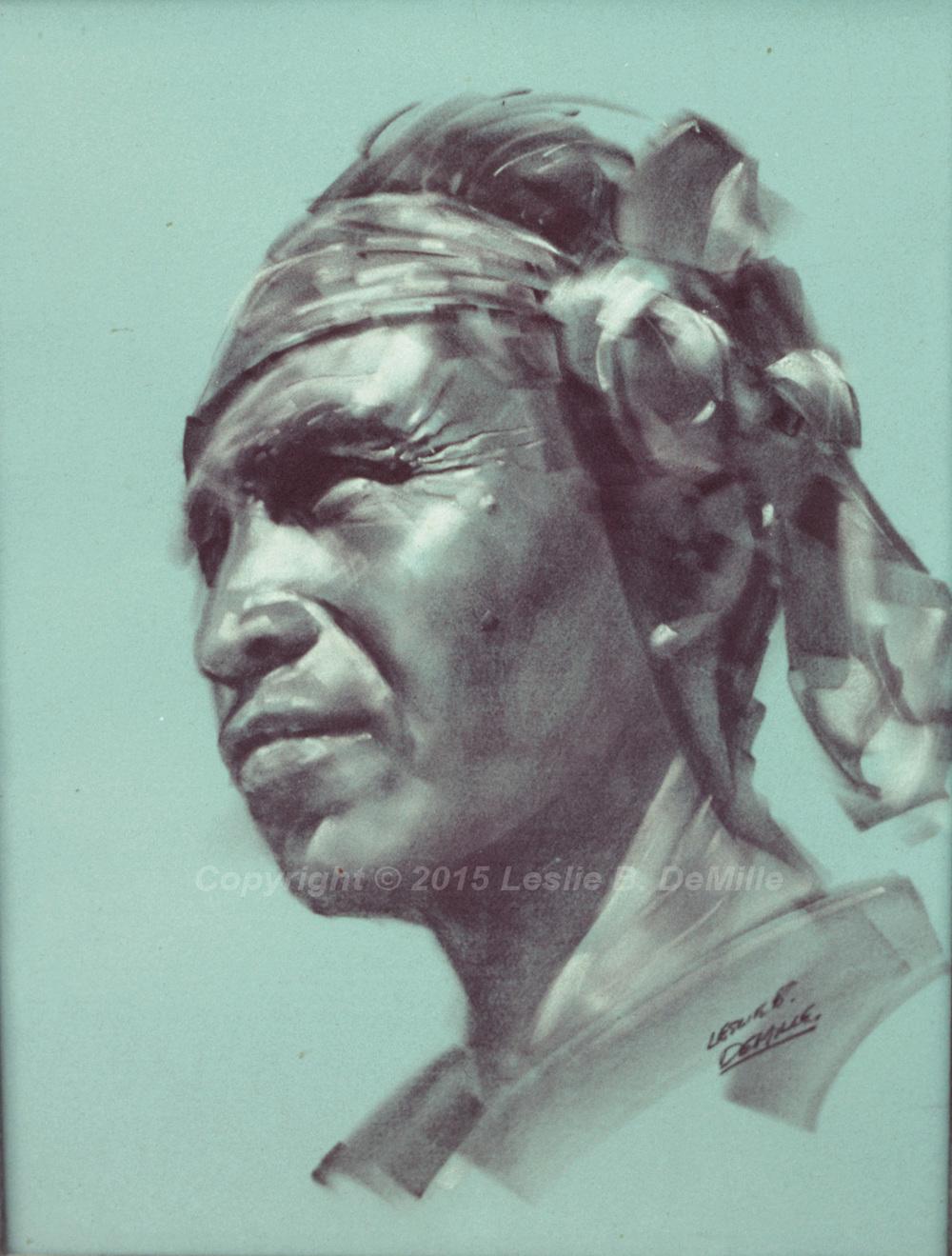 Indian Sepia 2, Pastel (12x16)