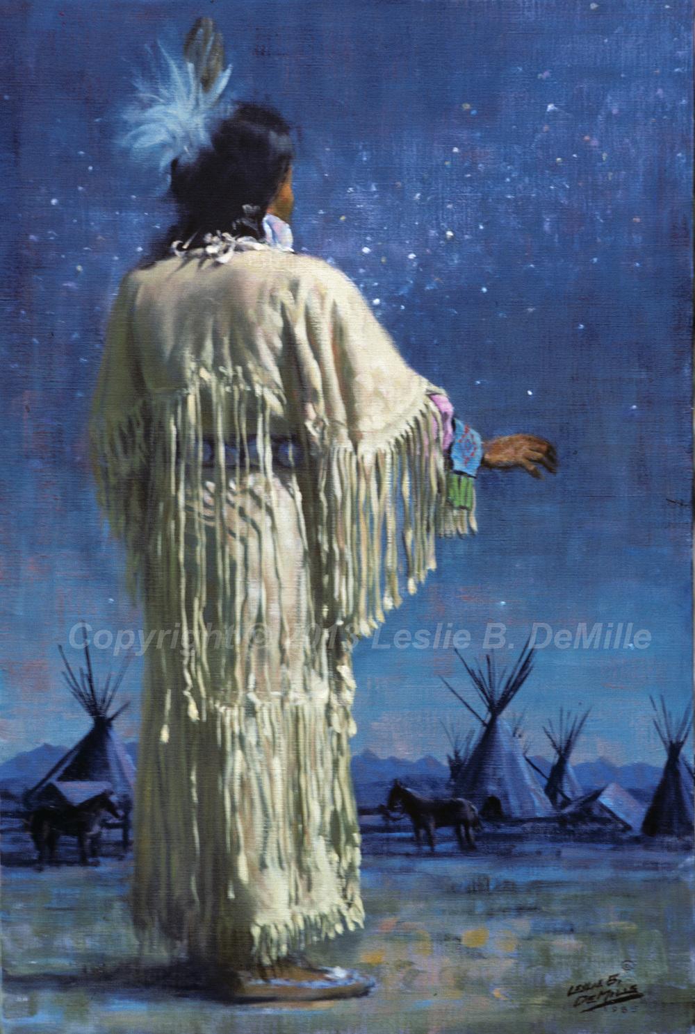 Night of Stars, Pastel 1985 (11x16)