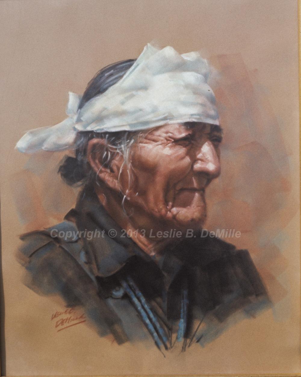Medicine Man, Pastel (11x14)