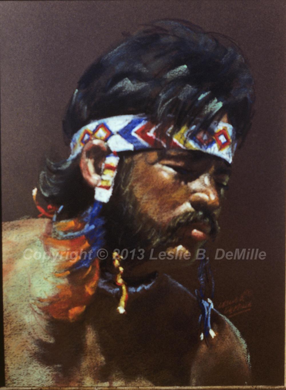 Navajo Indian 2, Pastel (12x16)