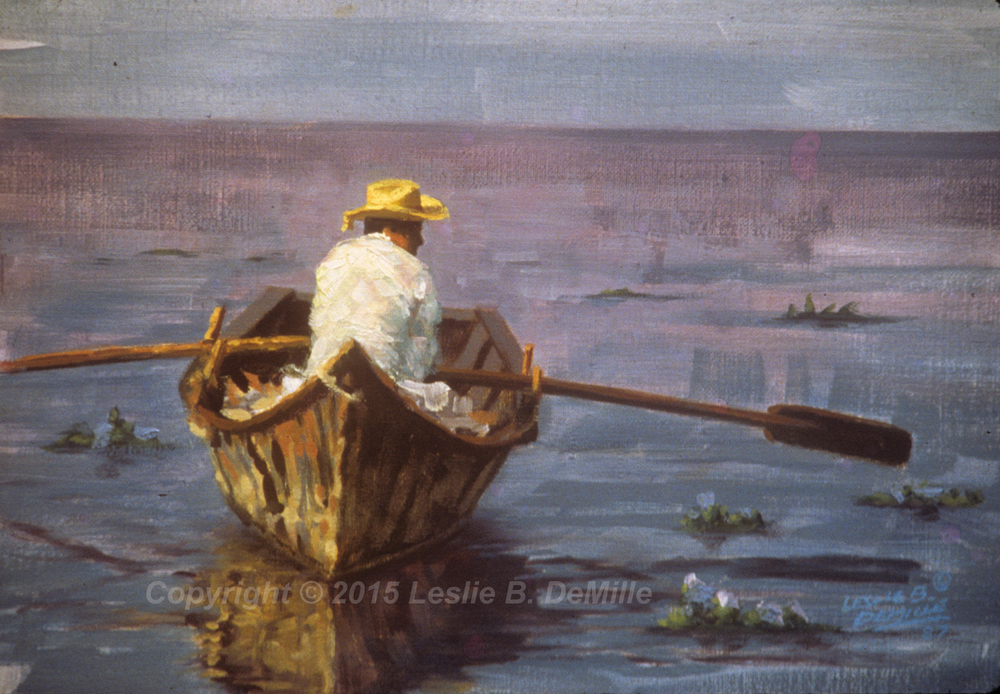 Rowing, Pastel 1987 (16x11)