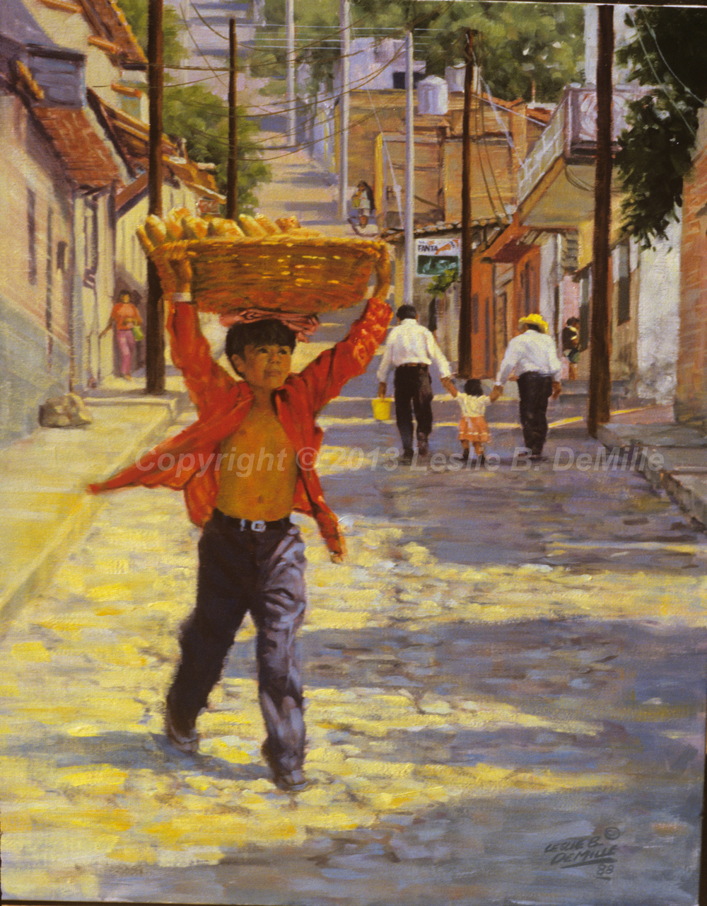 Bread Basket Delivery, Oil 1988 (11x14)